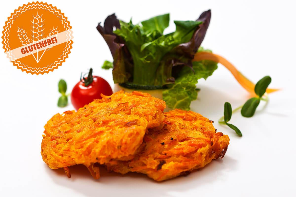 Glutenfreie Karottenpuffer