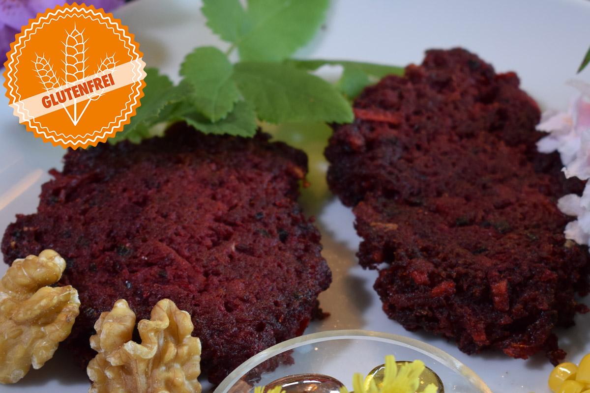 Rote Beete Puffer glutenfrei